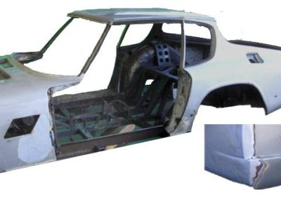 Paint removal from an aluminium car body including removal of the filler compound