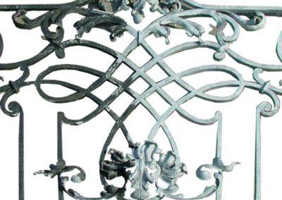 Stripping ornamental railings