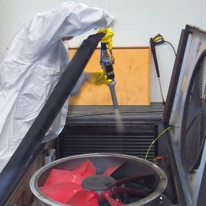 Reinigung von Klimaanlagen auf Zügen