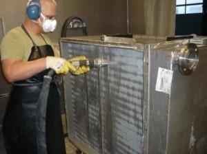 JetMaster: Reinigung Lamellenwärmetauscher