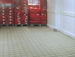 Bodenfläche eines Kühlhauses nach der Reinigung
