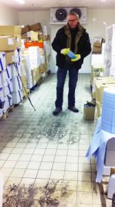 "Kühlhausreinigung mittels Anwendung ""Coldclean"""