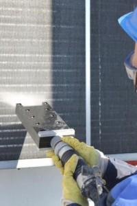 Tiefenreinigung der Lamellen mit der Spezialflachdüse des JetMaster