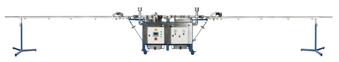 Versuchsanlage Rohrreinigungsmaschine