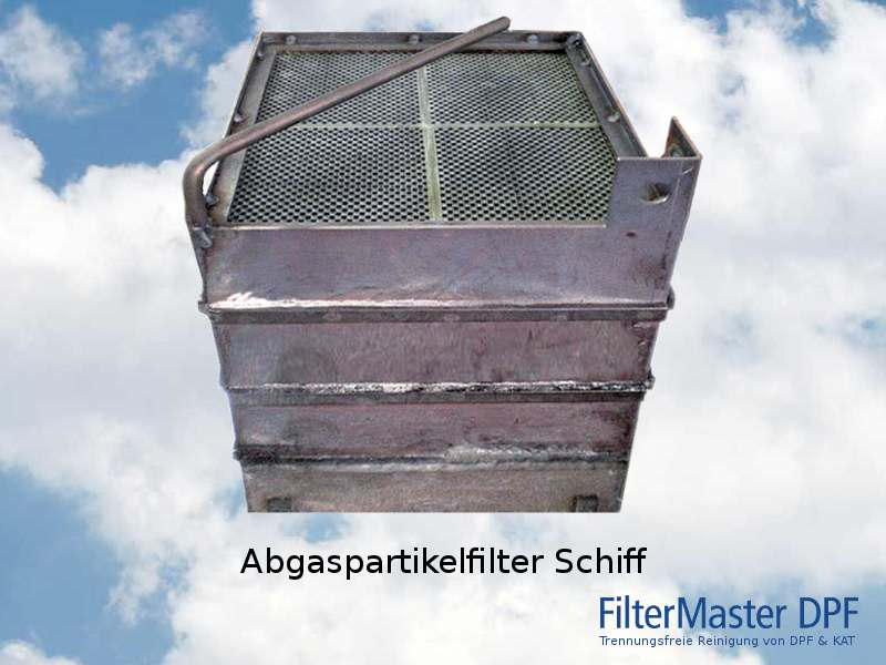 Abgaspartikelfilter eines Schiffes nach der Reinigung mit FilterMaster
