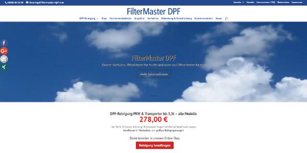FilterMaster DPF Webseite