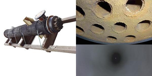 Reinigung Rohrbündelwärmetauscher mittels TubeMaster