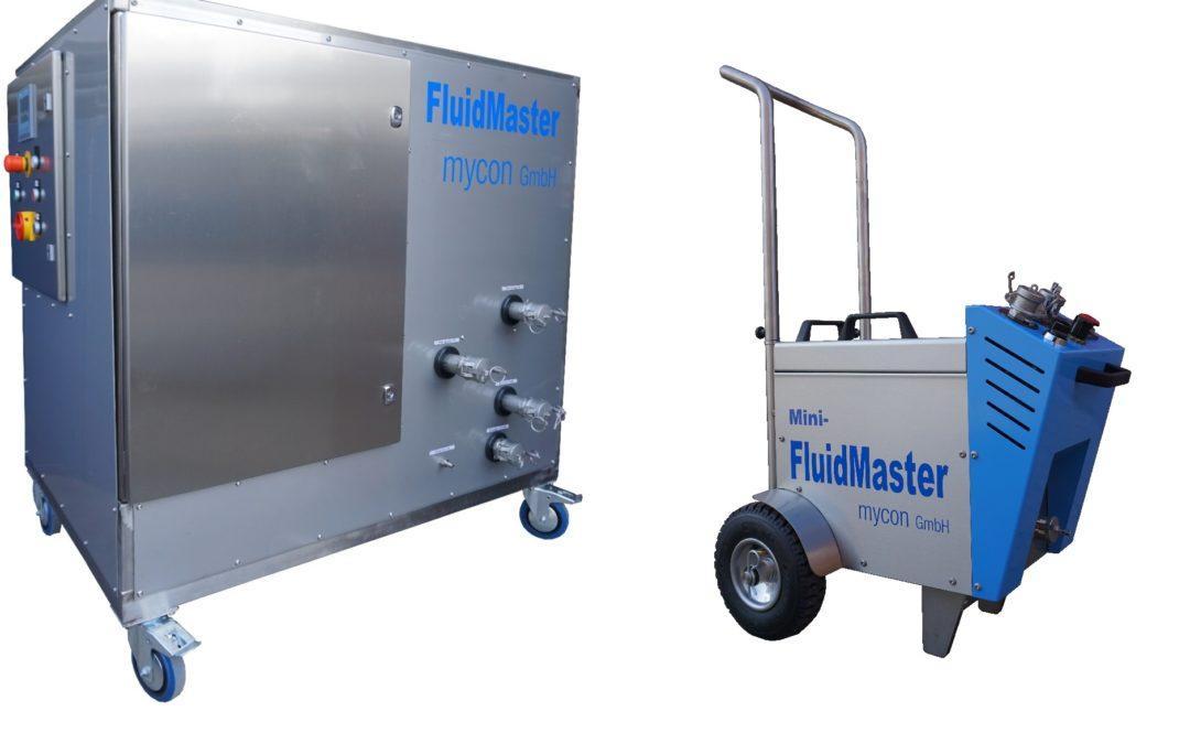 Kipp Umwelttechnik GmbH setzt neues Reinigungssystem FluidMaster der Schwesterfirma mycon GmbH ein